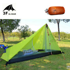 Oudoor Ultralight Camping Tent 3 Season 1 Single Person Professional 15D Nylon