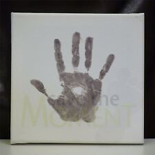 Hand & Foot Print Canvas Keepsake & Baby Safe Ink Pad - Toddler Childrens Memory