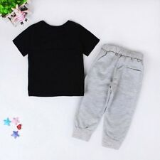 2pcs Toddler Kids Baby Boy T-shirt Tops+Long Pants Trousers Clothing Outfit Sets