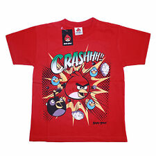 Boys Official Angry Birds Crashhh!!! Short Sleeve T Shirt Red Sizes 7,8 11,12