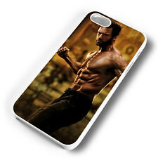WOLVERINE HUGH JACKMAN WHITE PHONE CASE COVER FITS IPHONE 4 5 6 7 (#WH)