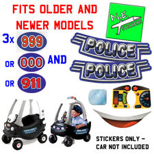 Little Tikes POLICE cozy coupe replacement stickers fits car toy reproduction.