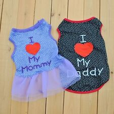 NEW Various Pet Puppy Small Dog Cat Pet Clothes Vest T Shirt Apparel Clothes