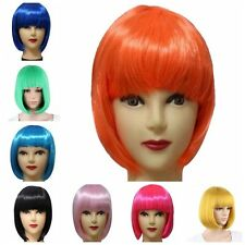 Fashion Women Full Bangs Wig Short Wig Straight BOBO Hair Cosplay Party Costume