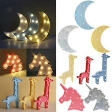 3D Marquee Sign LED Table Wall Lamp Kids Children Bedside Lamp Night Light Toys