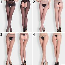 Women Sexy Open Crotch Crotchless Sheer Pantyhose Socks Stockings Tights Nifty