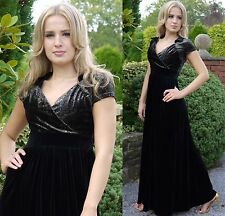 Elegant Spring Maxi Dress Cap Sleeve Wedding Velvet Maternity Suitable MontyQ