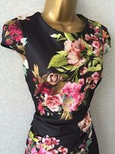 Jessica Wright Black Pink Floral Evening Party DRESS BNWT