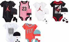 Nike Jordan Infant Set Baby Girl Boy Bodysuit Booties Beanie 3 Piece 0-6 MO New