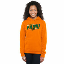 Florida A&M Rattlers Women's Orange Double Bar Pullover Hoodie - College