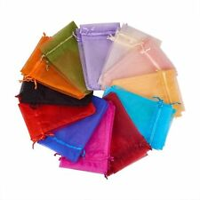 100 Pieces 5x7 Inches Flat Wedding Jewelry Gift Pouch Sheer Organza Bags 12x17cm