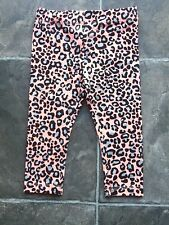 BNWT Girl's Orange, Black & Grey Animal Print Leggings/Pants Sizes 2, 4 & 6