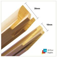 Canvas Stretcher Bars, Canvas Frames, Pine Wood 18mm & 38mm Thick Sold By Pair_B