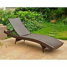 International Caravan Barcelona All Weather Wicker Chaise Lounge