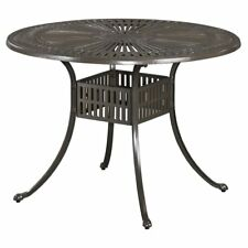 Home Styles Largo 42 in. Round Cast Aluminum Patio Dining Table