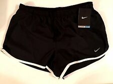 Women's NIKE Tempo Dri Fit Shorts Running Black White XS, S, M 573728-010 NEW