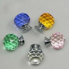 30mm Crystal Clear Glass Door Knobs Drawer Cabinet Furniture Closet Pull Handles