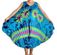 """Plus Size Loose Fit Dress Top Tie Dye Sleeveless Holiday Beach Party, Bust 52"""""""