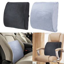 Lumbar Back Support Cushion Memory Foam Seat Pillow Chair Car Home Office Travel