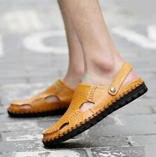 Hot Mens Faux Leather Sandal Shoes Summer Slipper Sandals Casual Slip On US Size
