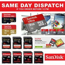 SanDisk 8Gb 16GB 32Gb 64GB Micro SD SDXC UHS-I Class 10 DSLR Mobile Memory Card