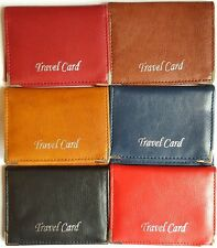 Fabretti Oyster Leather Look Travel Card Bus Pass Rail Card Holder Wallet Case