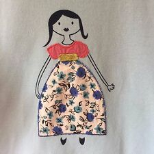 NEW ex Mini Boden Girls Applique Blue Long Sleeved Top T-shirt Age 7-8 Years