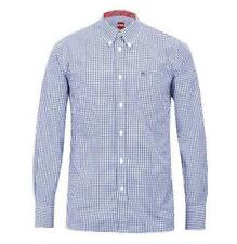 BNWT Merc London Japster Gingham Shirt - Blue