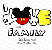 Disney Family personalized iron on transfer (choice of 1)