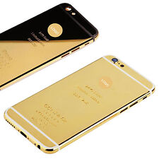 24K Gold Limited Edition Frame Plated Back Housing For iPhone6 Hot Sale 2017 NEW