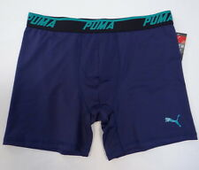 Men's Puma Sport Stretch Boxer Brief Underwear Blue 888435879527