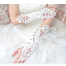 New  Lace Long Fingerless Wedding Accessory Crystal Bridal Party Gloves