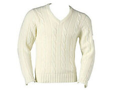 READERS PLAIN CREAM CABLE KNIT CRICKET JUMPER/SWEATER
