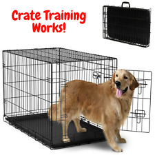 """OxGord PET KENNEL Cat Dog Folding Crate Animal Playpen Wire Metal Cage 20""""-48"""""""