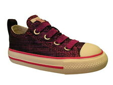 Converse Allstar Ox Shimmer Stretch Rasberry with elasticated laces