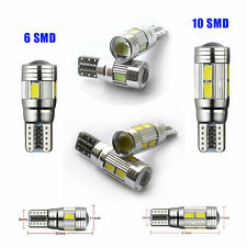 T10 501 W5W CAR SIDE LIGHT BULBS CANBUS ERROR FREE 6 /10SMD LED XENON HID WHITE
