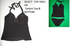 La Blanca Textured Tankini Top only BLACK 6 10-OR TOP & BOTTOM size 4 or size 8
