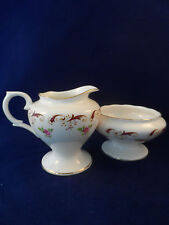 "Crown Staffordshire ""Wentworth"" Milk Jug And Sugar Bowl"