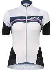Santini White 2017 Queen Of The Mountain Womens Short Sleeved Cycling Jersey