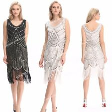 1920s Vintage Flapper Dress Great Gatsby Charleston Party Sequin Tassel Dress