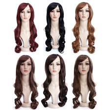 Fashion Cosplay Hair Wig Women Long Curly Wavy Party Anime Costume Full Wigs