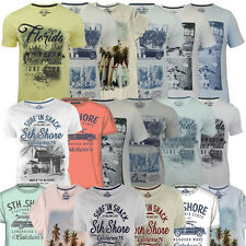 Mens South Shore Graphic Photo Print T-shirt Assorted Designer Cotton Tee Shirt