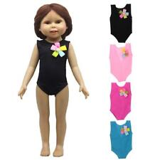 "Cute Flower Swimwear Swimsuit Clothes Outfit for 18"" American Girl My Life Doll"