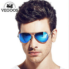 Pilot Sunglasses Polarized Aviator Men Retro Driving Lens Fashion Mirror Glasses