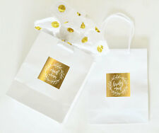 6 Gold Bridal Party Wedding Gift Bags Bride Bridesmaid Maid of Honor Mother Lot