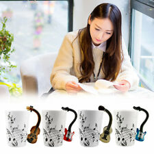 Ceramic Mug Cup Musical Instrument Note Style Coffee Milk Cup Christmas Gift ZM