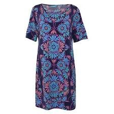 Tori Richard New with Tags Navy Printed Short Sleeve Shift Dress