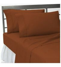BEDDING SHEETS COLLECTION  1000TC 100%EGYPTIAN  COTTON BRICK RED SOLID ALL SIZE
