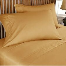 1000TC/1200TC 100%EGYPTIAN COTTON US SIZES ALL BEDDING ITEMS GOLD SOLID