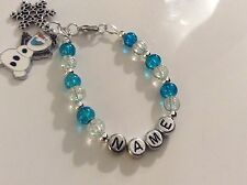 Disney Frozen Olaf Personalised Bookmark, Keyring, Earrings & Clip On Charms